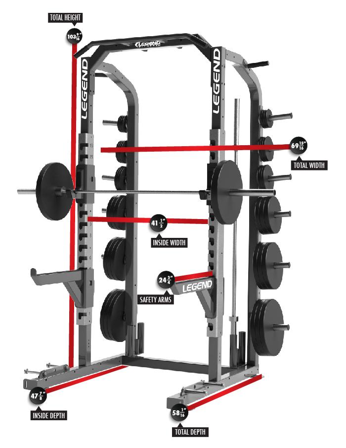 Pro Series Half Rack 3226 Dimensions