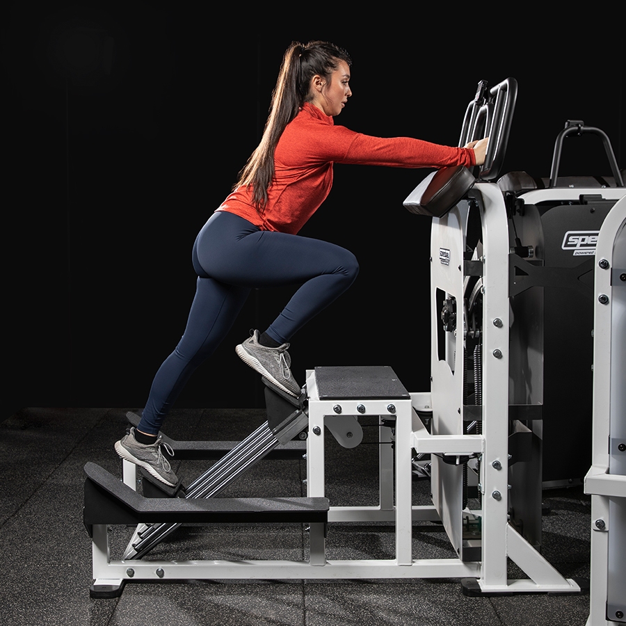 A photo of the Speedway Circuit Motor WRX machine being used by a female athlete.