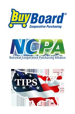 Co Op Logos: BuyBoard, NCPA, and TIPS-USA