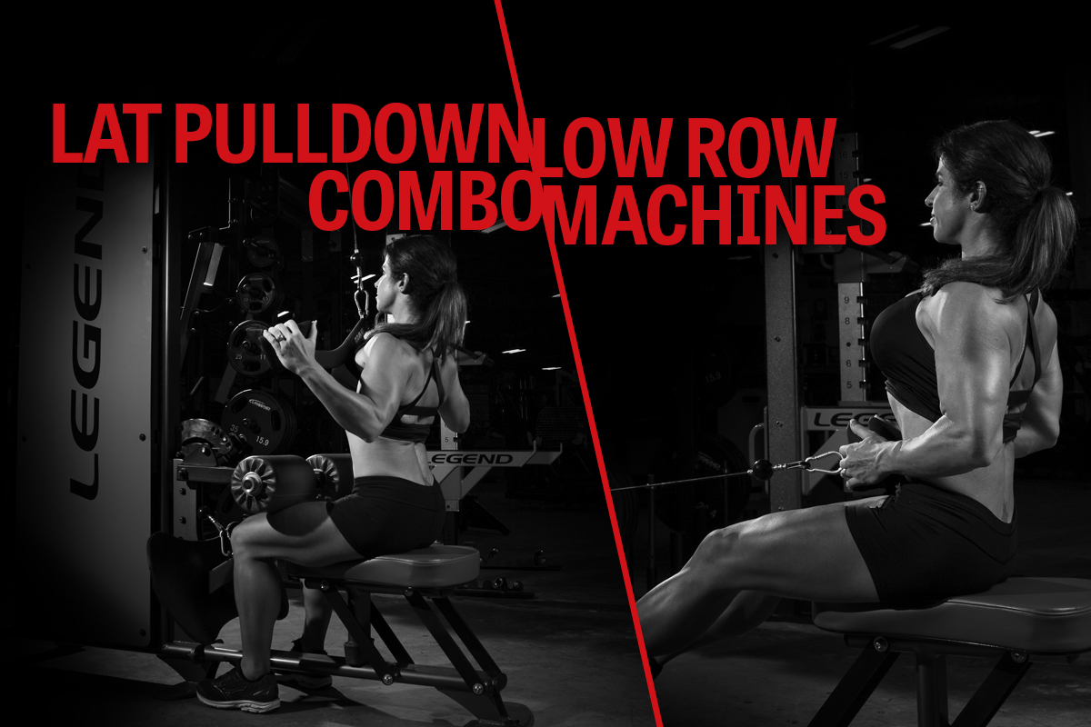 Lat Pulldown and Low Row Combo Machines