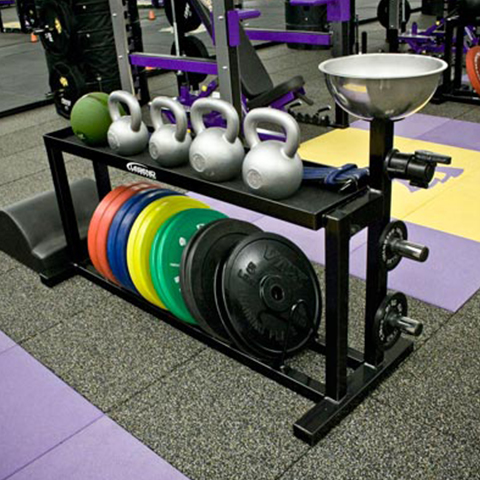 A photo of the Legend Fitness Multi Storage Rack.